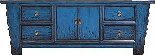 opium outlet - Cómoda de Madera, diseño Vintage, Color Azul