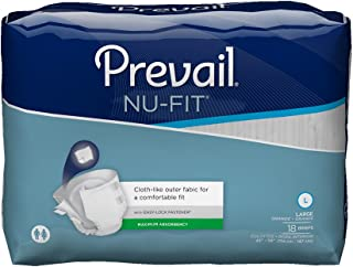 Prevail Nu-FIT Maximum Absorbency Incontinence Briefs, Large, 72-Count
