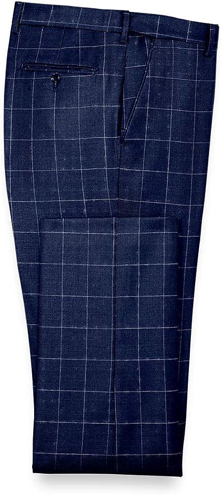 Paul Fredrick Men's Classic Fit Essential Wool Flat Front Suit Pant