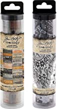 Tim Holtz Halloween Collage Paper Rolls - 2019 Halloween and 2018 Halloween - 6 inches by 6 Yards - 2 Items