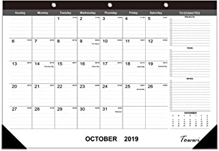 "TOWWI 2019-2020 Year Monthly Desk Pad Calendar, 16.8"" x 11.7"" Desktop Wall Calendar for Daily Schedule Planner"