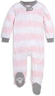 Unisex Baby Sleep & Play, Organic Pajamas, NB - 9M One-Piece Zip Up Footed PJ Jumpsuit