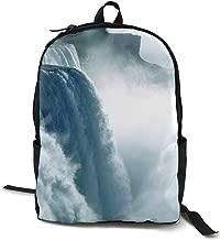 Uwed2xv Niagara Waterfall Canada Travel Backpack Durable Backpack College School Computer Bag for Women & Men Fits Notebook