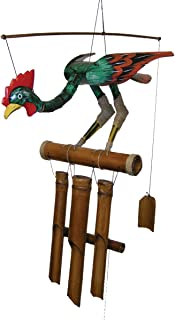 Cohasset Gifts 146R Cohasset Annie Rooster Bobbing Head Bird Bamboo Wind Chime