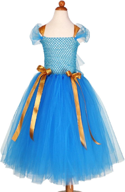 RBB Blaue Prinzessin Kleid Mädchen Kleid Bühne Sommer Leistung Kleidung,Blau,110 cm B07FDSHGC4  Klassischer Stil