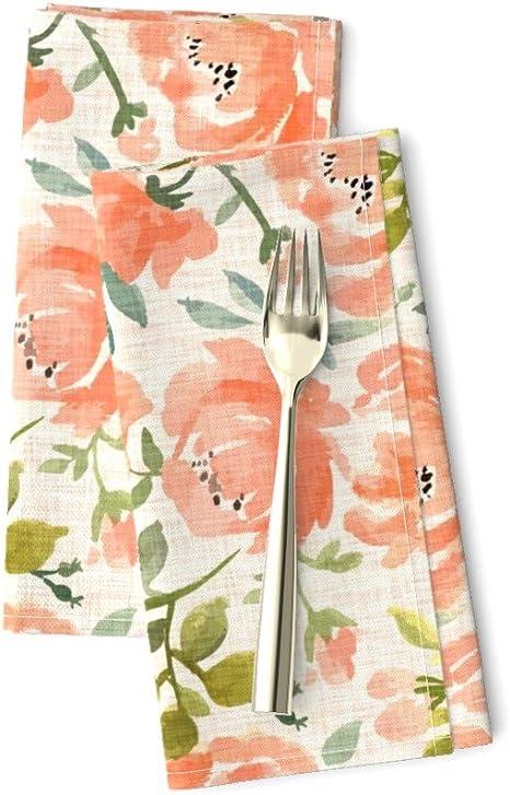 Floral Napkins Cloth Napkins Dinner Napkins Lavender Napkins Floral Cloth Napkins, Table Linens Cotton Napkins Napkins