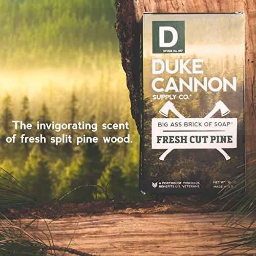 Duke Cannon Supply Co. - Great American Frontier Men's Big Brick of Soap, Fresh Cut Pine (10 oz) Superior Grade Soap Bar With Unique, Outdoor, Masculine Scents - Fresh Cut Pine, Modern Invigorating