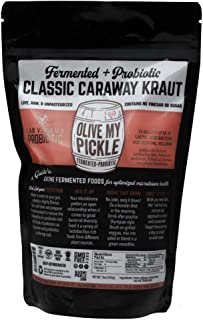 Olive My Pickle | Fermented & Probiotic Sauerkraut For Gut Health - CLASSIC CARAWAY KRAUT 16 OZ. (1 PACK) Ships FREE