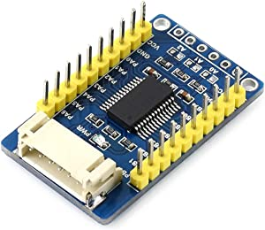 Waveshare MCP23017 IO Expansion Board I2C Interface Expands 2 Signal Pins as 16 I/O Pins Compatible with 3.3V and 5V Levels