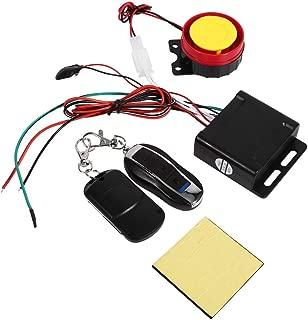 Fydun Bike Anti-theft Security Alarm 1 Set Motorcycle Bike Anti-theft Security Alarm System with High Power Siren (125dB) 12V