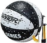 Balón de Baloncesto con Bomba, Balón de Baloncesto de Cuero para Niños Talla 5, Juego de Ppelota Interior al Aire Libre
