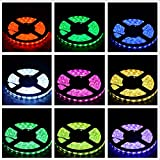 LEDMOMO Tira LED De Luz RGB 20 Metros SMD 5050 1200 LED IP65 Impermeable Diodo Luces de cinta con 2.4G RF Control Remoto RGB Amplificador Wifi APP Control DC12V Fuente de alimentación