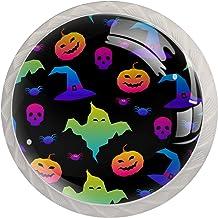 Kabinet lade knoppen regenboog gelukkig Halloween trekt handgrepen voor keuken kast badkamer kast dressoir, 4 Pack