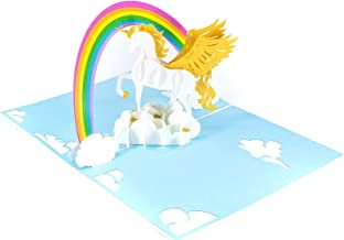 PopLife Rainbow and Unicorn 3D Pop Up Mother's Day Card - Birthday Pop Up Card, Baby Shower Gift, Get Well - Fold Flat for Mailing - for Mother, for Daughter, for Wife, for Granddaughter, Mom, Sister