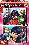 Las aventuras de Ladybug - Puzzle, 2 x 100 Piezas (Educa Borrás 17277)
