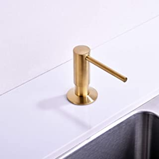 Brushed Gold Soap Dispenser for Kitchen Sink,Avola Commercial Grade Liquid Dish Dispensers Pump,Gold Built In Kitchen Sink Soap Dispenser,Gold Lotion Dispenser