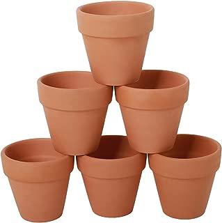 YXMYH 6 Pcs Terracotta Pot Clay Pots 4'' Clay Ceramic Pottery Planter Cactus Flower Pots Succulent Pot Drainage Hole- For Indoor/Outdoor Plant Crafts
