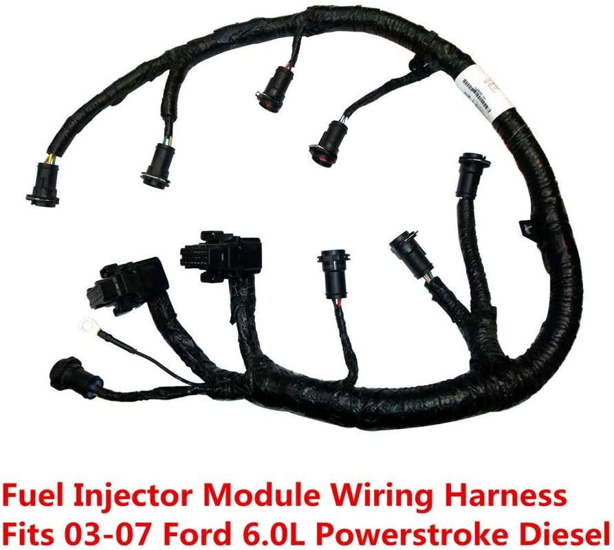 amazon.com: ficm engine fuel injector complete wire harness - 5c3z9d930a -  compatible with for ford powerstroke 6.0l diesel 2003, 2004, 2005, 2006,  2007 f250 f350 f450 f550 excursion -black  amazon.com