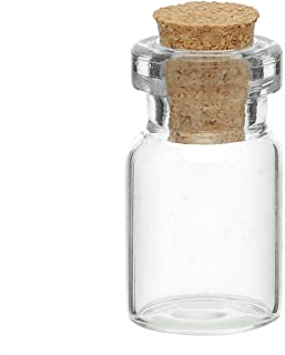 Mini Glass Bottles Vials With Corks for Message Weddings Wish Jewelry Party Favors 10pcs