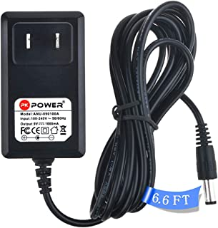 PK Power 9V/1A AC Adapter Electronics Compatible with BOSS DanElectro Casio Piano Keyboard Dunlop Ditto TC Electronic Zoom Guitar Multi Effects Pedal DigiTech Electro Harmonix Internal Negative