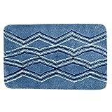 AILI Alfombras de baño Simples a Rayas, Creativo Antideslizante Alfombra Azul Escalera 50 * 80cm (Color : A)