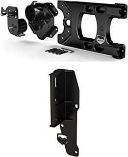 Teraflex 4838150 4838250 Alpha HD Hinged Spare Tire Carrier and Adjustable Spare Tire Mounting Kit and Hi-Lift Jack Mount Kit for Jeep Wrangler JK JKU