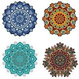 shiy Parches La aplicación de Planchado The Mandala En el Rayado La Ropa Patch en Etiqueta engomada Una Vez Impresa Planchado de Ropa Plancha en Parches para Ropa (Color : F)