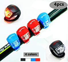 4 Piezas LED Clip-On Silicon Band Luces de Bicicleta Lá