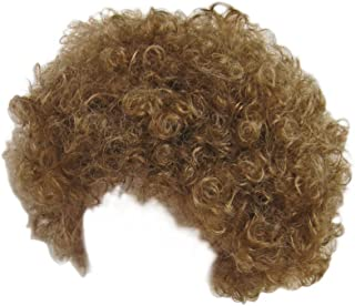 Economy Brown Afro Wig ~ Halloween Costume Party Wig (STC13034)