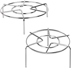 Food Steaming Racks Stand Stainless Steel for Instant Pot Cooking Rack Pressure Cooker Wok Pan Cooking Trivet Steam Cook W...