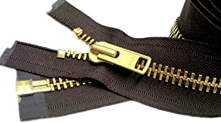 "ZipperStop Wholesale Authorized Distributor YKK® Sale 29"" Extra Heavy Duty Jacket Zipper (Special Custom) YKK #10 Brass Se..."