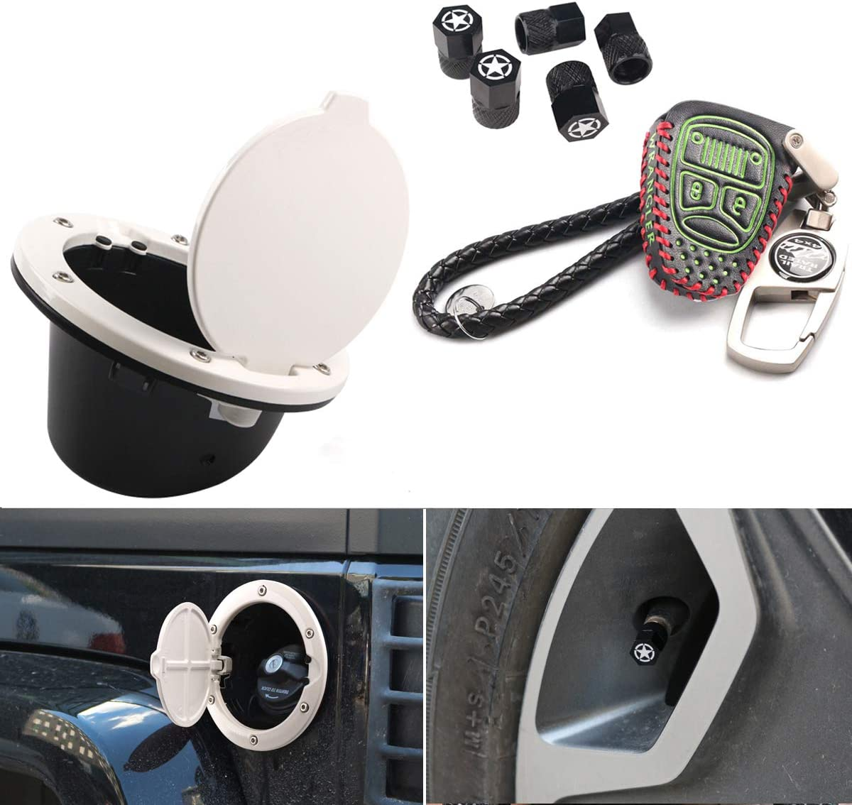 White Gas Max 54% OFF Cap Max 54% OFF Cover + Green Leather Fob Control Key Remote