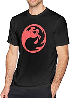 Odyssey Legend Red Mana Magic The Gathering Vintage Creative Unique Men's Short Sleeved T-Shirt Round Neck Basic Shirt Black