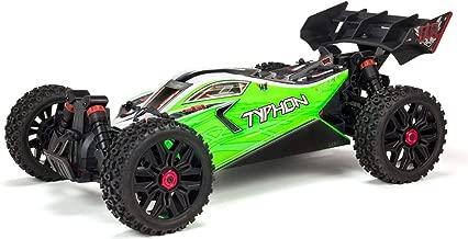 ARRMA 1/8 Typhon Mega 4x4 RC Speed Buggy 4WD RTR with 2.4Ghz Spektrum Radio, 7C 2400mAh NiMH Battery & Charger, Green/Black (ARA102694)