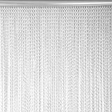 Cortina de Tira de Cadena de Metal de Aluminio, Puerta, Ventana, Cortina de Metal, Control de plagas de Moscas, decoración de Insectos, Control de Pantalla de Puerta para Dormitorio