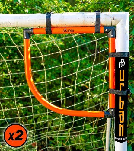 Football Flick Corner Shot X2 Cible d'entraînement pour But de Football Unisexe-Adolescents, Noir/Orange, Taille Unique