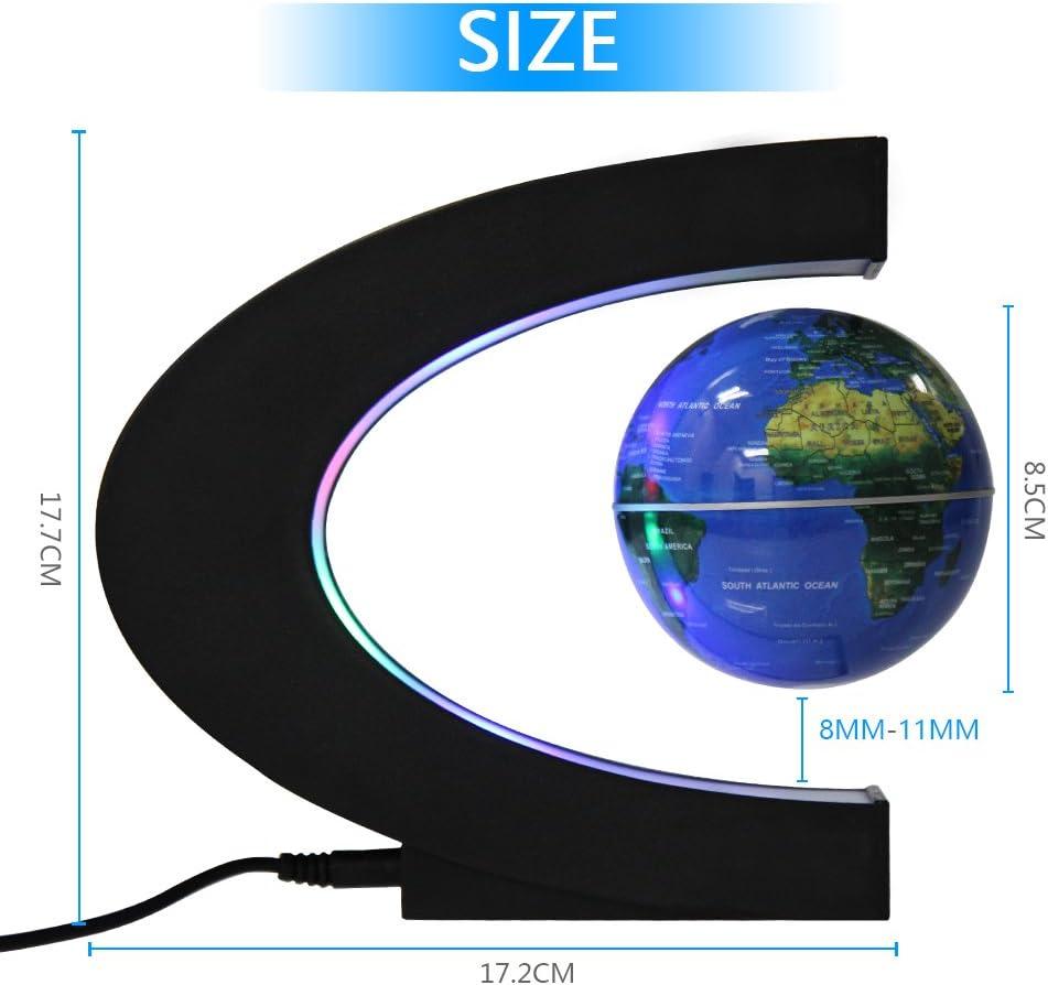 EASY EAGLE Globen Licht Magnet Globus Magnetische Kugeln Schwimmende Kugel Business Geschenke Geburtstag Geschenke Blau/Grün Blau - 3 Inch