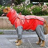MYYXGS Regenmantel Hund Regenmantel wasserdichte Kleidung FüR GroßE Hunde, Hundekleidung,...