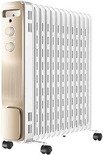 LLAMN Con Aceite radiador de calefacción, protección contra sobrecalentamiento portátil Calentador de Aceite, for el hogar y la Oficina (Color: Champagne de Oro, tamaño: 59 * 28 * 64cm)