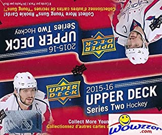 2015/2016 Upper Deck Series 2 NHL Hockey MASSIVE Factory Sealed 24 Pack Retail Box with 192 Cards! Includes SIX(6) Young Guns Rookies! Look for Conner McDavid Canvas Rookie Selling for over $200 !