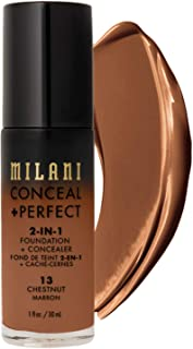 Milani Conceal + Perfect 2-in-1 Foundation + Concealer – Chestnut (1 Fl. Oz.)..