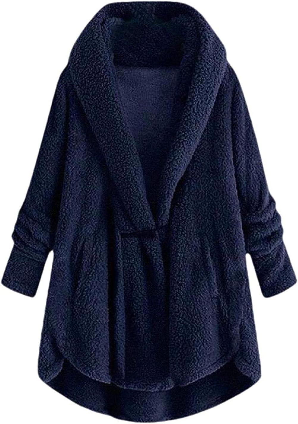 Women Casual Winter Fleece Faux Fur Long Sleeve Jacket Cardigan Coat Outwear