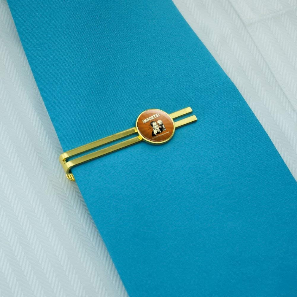 GRAPHICS & MORE Imports Good Liver Deserve a Treat Funny Humor Round Tie Bar Clip Clasp Tack Gold Color Plated