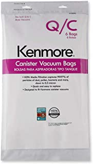 Sears Genuine 6-Pack ??nm?r? Canister Vacuum Bags 53292 Type Q - C HEPA for Canister Vacuums Cleaner