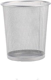 C-J-Xin Household Wastebasket, Metal Mesh Light Weight Trash Can Office Living Room Bedroom Bathroom Trash Bin Trash & Rec...
