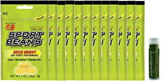 Sport Beans LEMON LIME Jelly Belly 1 oz (28g) - Pack of 12 with a Jarosa Bee Organic Peppermint Lip Balm