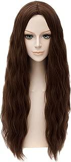 HH Building Movie Character Costume Wig Long Wavy Hair Cosplay Wig (Dark Brown)