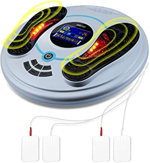 Foot Circulation Pro (F.D.A-Approved), EMS & TENS Feet Legs Stimulator for Neuropathy,Circulation,Pain Relief,RLS. Medical Electronic Pulse Stimulation Device for Feet Calf Ankle Legs Nerve Muscle