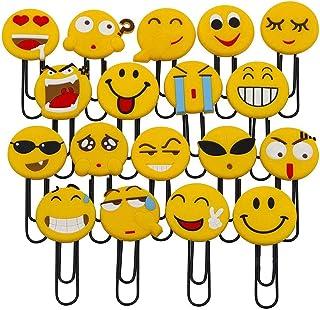 Simpatici segnalibri Emoji, simpatici segnalibri graffetta, novità Emoticon segnalibri per bambini, ragazze, ragazzi, stud...