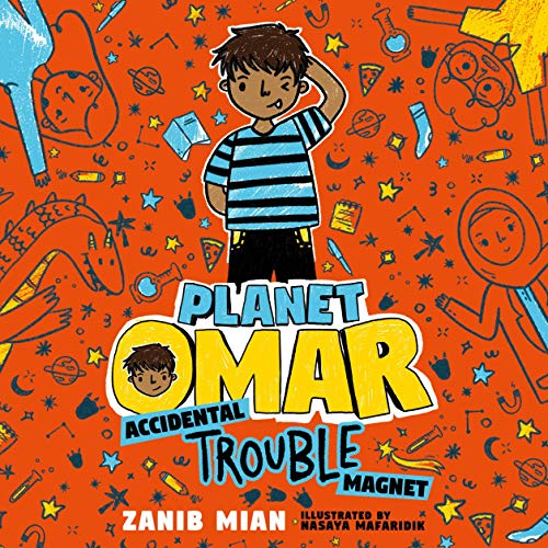 Planet Omar: Accidental Trouble Magnet audiobook cover art